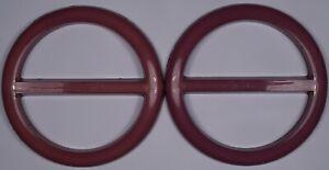 glossy white vintage retro round dress slide slider buckle scarf belt 4.5cm