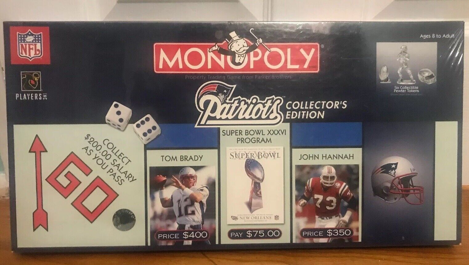 NEW New England Patriots Collector's Edition Monopoly 2003 Board Game RARE
