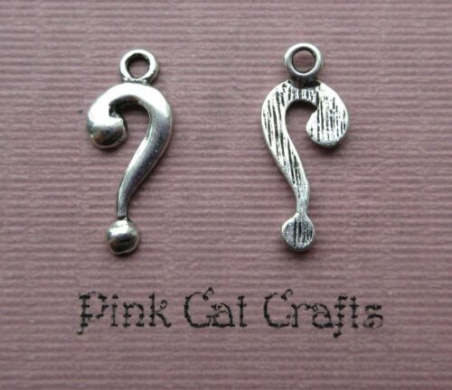 15 x Tibetan Silver QUESTION MARK Charms Pendants Beads