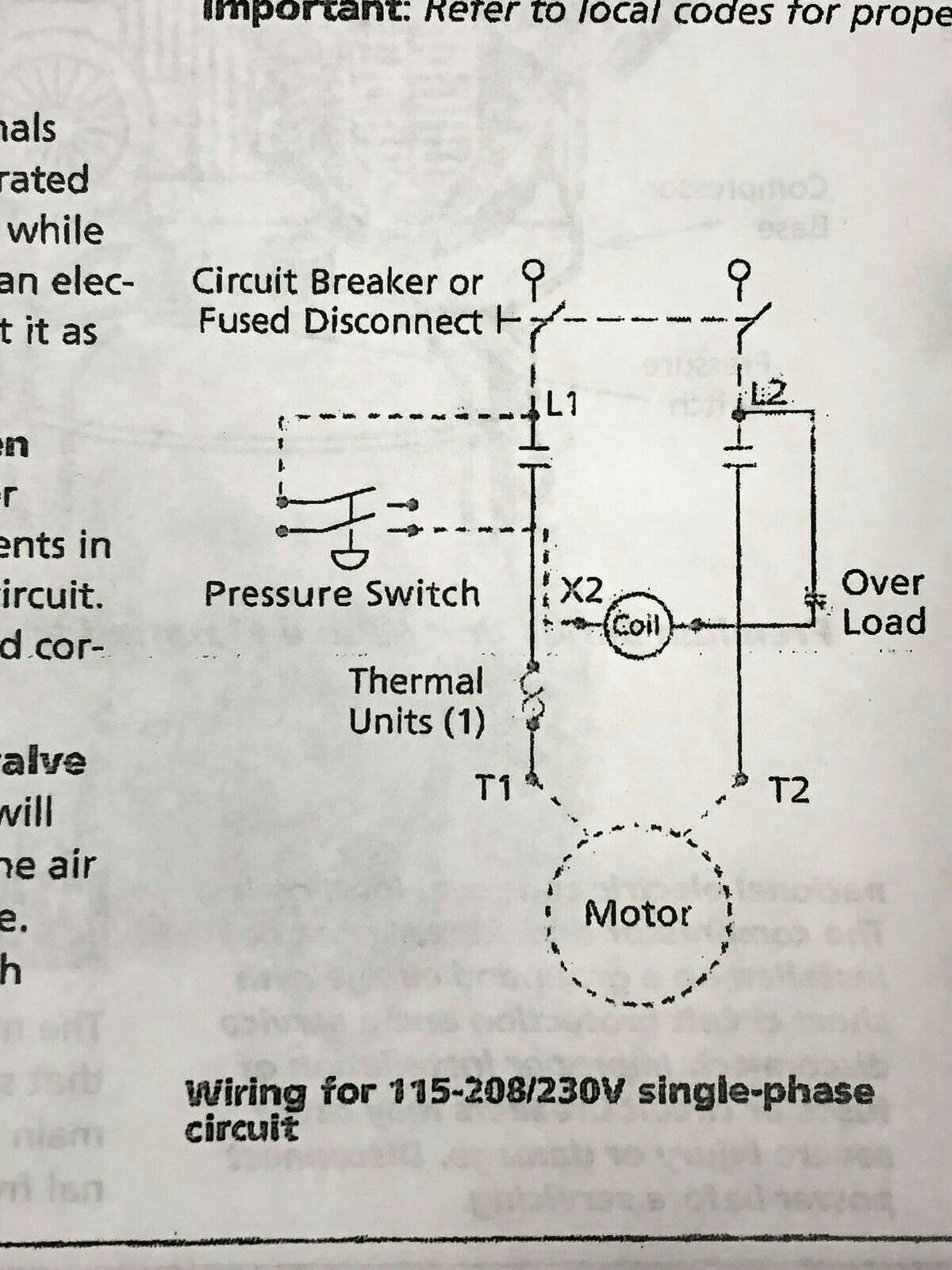 [SCHEMATICS_4FD]  BELAIRE MAGNETIC STARTER 5HP SINGLE PHASE 208-240 VOLT | 240 Volt Single Phase Compressor Wiring Diagram |  | Faridabad Navchetna Trust