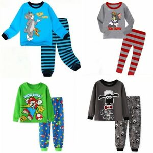 c360d0902 Kids boys anime theme pajamas set Size 2T-7T Cotton sleepwear ...