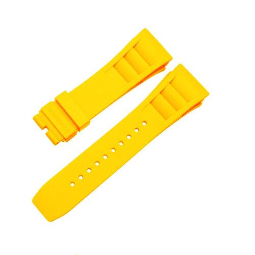 11L de Richard Mille 25mm Caoutchouc Plongeur Montre Bande Remplacement Sangle