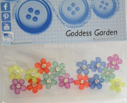 Goddess Garden Jesse James Dress It Up Small Gem Flower Embellishments