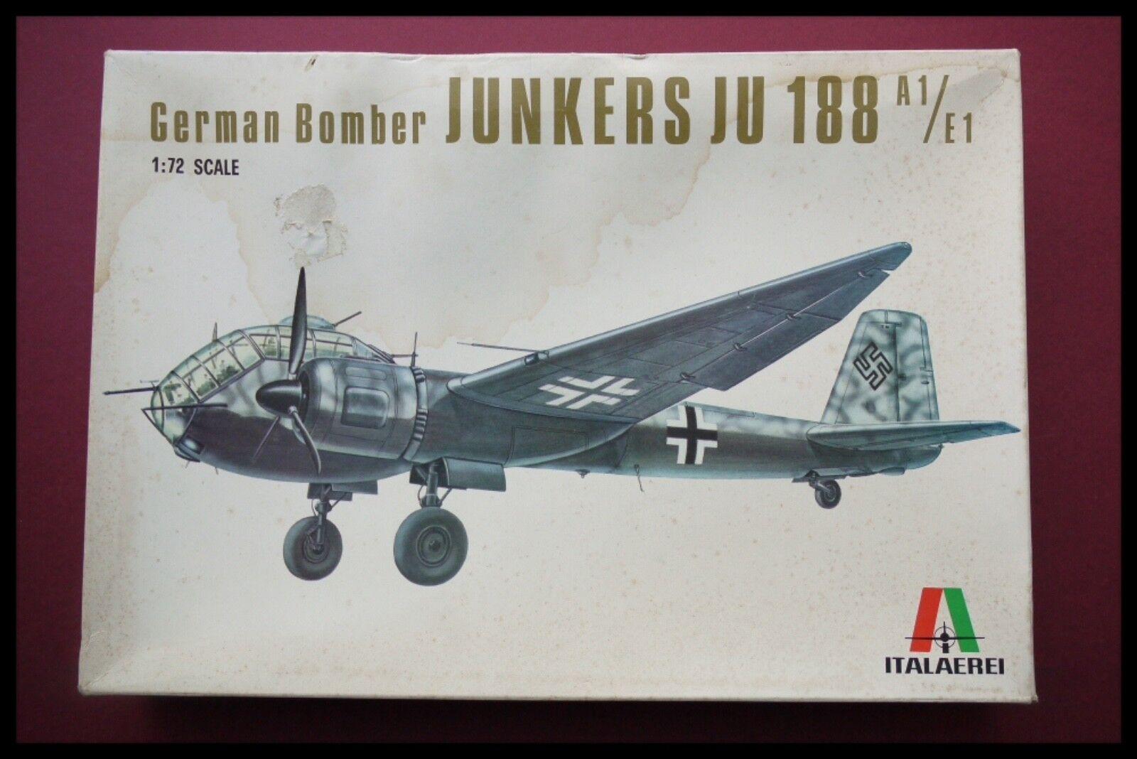Italeri Italaerei 1 72 Junkers Ju188 A1   E1  Bomber Model Kit