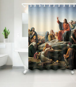 Image Is Loading 72x72 039 Listen To Jesus Shower Curtain