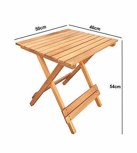 Havnyt pliante en teck Table Carré Extérieur mobilier de jardin 50 x 46 cm