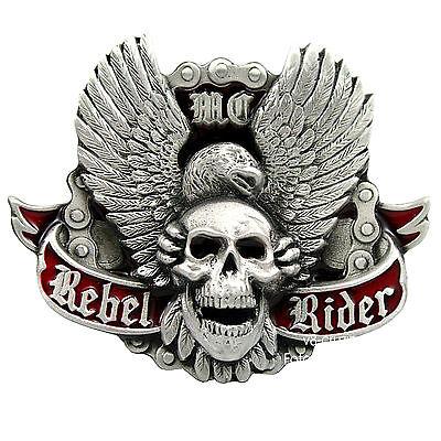 Biker Adler Totenkopf Motorrad Skull Gürtelschnalle Rocker Belt Buckle *465