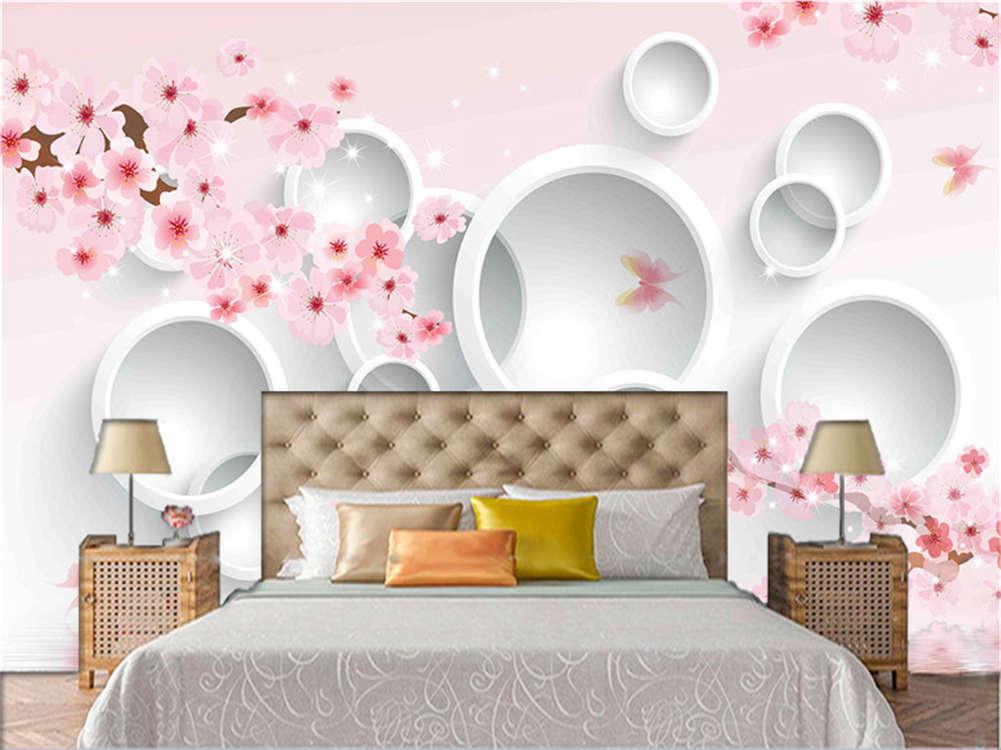 Pink Habitual Rain 3D Full Wall Mural Photo Wallpaper Printing Home Kids Decor