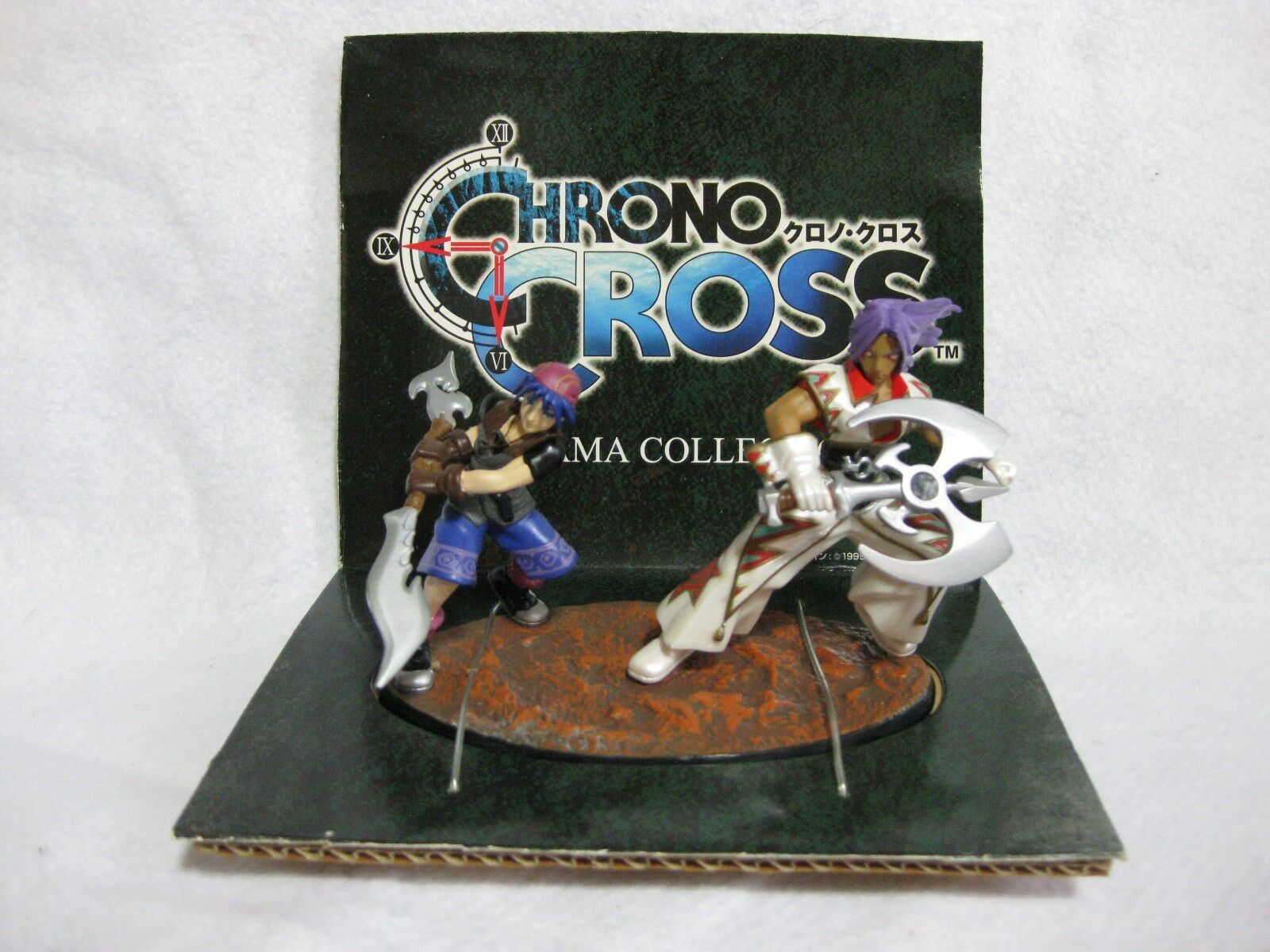 Vary Vary Vary Rare  CHRONO CROSS Diorama Figures Serge & Karsh Japan Official Figure e76fe8