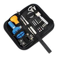 New Watch Repair Tool Kit Back Case Opener Remover Watch Spring Pin Bar Set