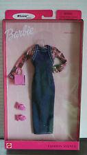 BARBIE FASHION AVENUE 1999 Blues Styles FIRST DATE Long Jean Jumper Shiny Pink