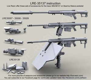 Live Resin 1/35 LRE-35137 Barrett M82A1/M107A1  50 Caliber