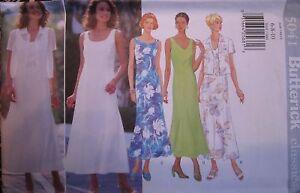 Vintage-Butterick-SEWING-Pattern-5041-Misses-Summer-Dress-6-10-UNCUT-OOP-NEW-FF