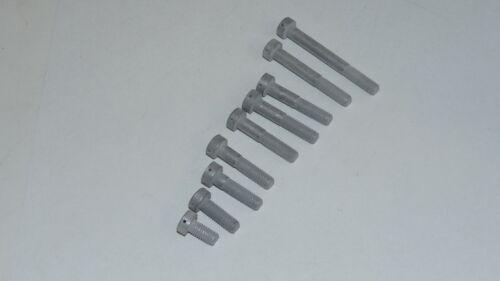 4pcs M5 x 15mm Titanium 6AL4V Screw Aerospace Surplus  with Anti-sieze Dry Lube