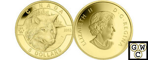 2013-Gold-039-Wolf-O-Canada-039-Proof-5-Gold-Coin-9999-Fine-13155-NT
