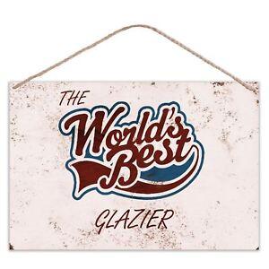 The Worlds Best Plasterer Vintage Look Metal Large Plaque Sign 30x20cm