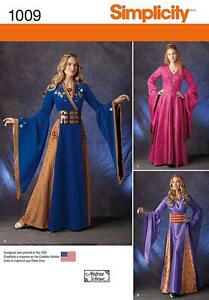 Simplicity-PATRON-COUTURE-FEMMES-039-medieval-Age-JEUNE-FILLE-COSTUME-TAILLE-6-22