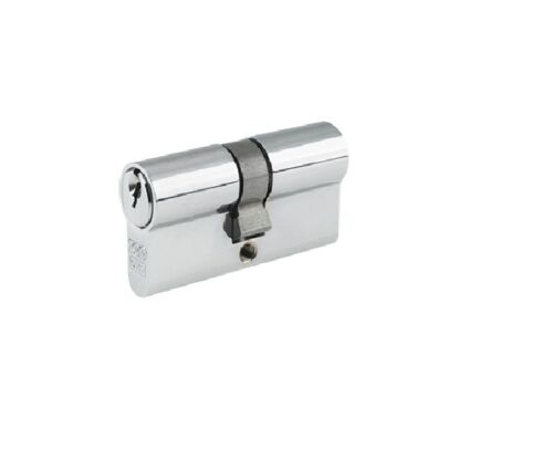 60mm or 70mm Euro Profile 5 Pin Double Cylinder Satin Chrome Plated