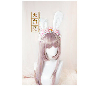 Kawaii Sweet Lolita Rabbit Cat Ears Bowknot Princess headwear Hair Accessories