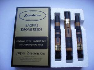 Ezeedrone Bagpipe Drone Reeds Avec Inversé Bass-afficher Le Titre D'origine