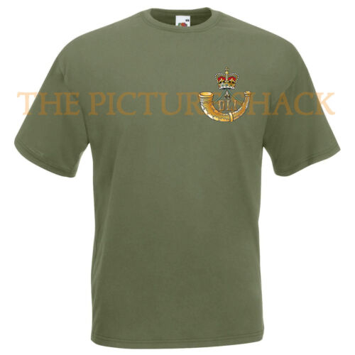 DURHAM LIGHT INFANTRY CAP BADGE PRINTED ON A T SHIRT.CHOICE OF COLOURS