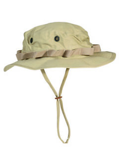 US Army Camo Gi Jungle Hat R/S Boonie Khaki Size XL Fishing Fisherman's