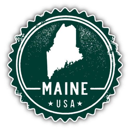Maine USA State Grunge Map Stamp Car Bumper Sticker Decal 9/'/' 12/'/' or 14/'/'