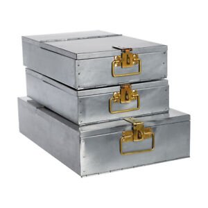 Büro Aufbewahrung house box the bank aufbewahrung metall silber messing kiste