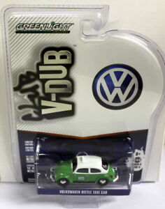 Greenlight-1-64-Scale-Club-V-Dub-Volkswagen-Beetle-Taxi-Diecast-model-car