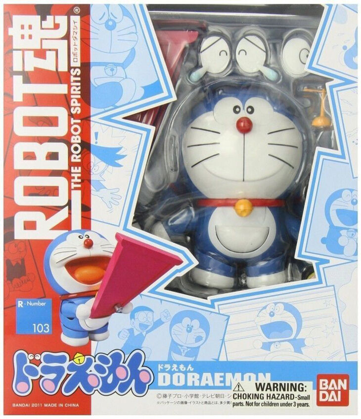 Bandai DORAEMON Action Figure Robot Spirits Spirits Spirits R103 ORIGINALE Toy giapponese 298ca3