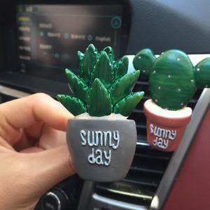 Car Air Conditioning Vent Clip Plants Perfume Stick
