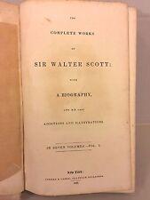 Ant Books Sir Walter Scott Early1800s Memoirs & Complete Works Vol John Lockhart