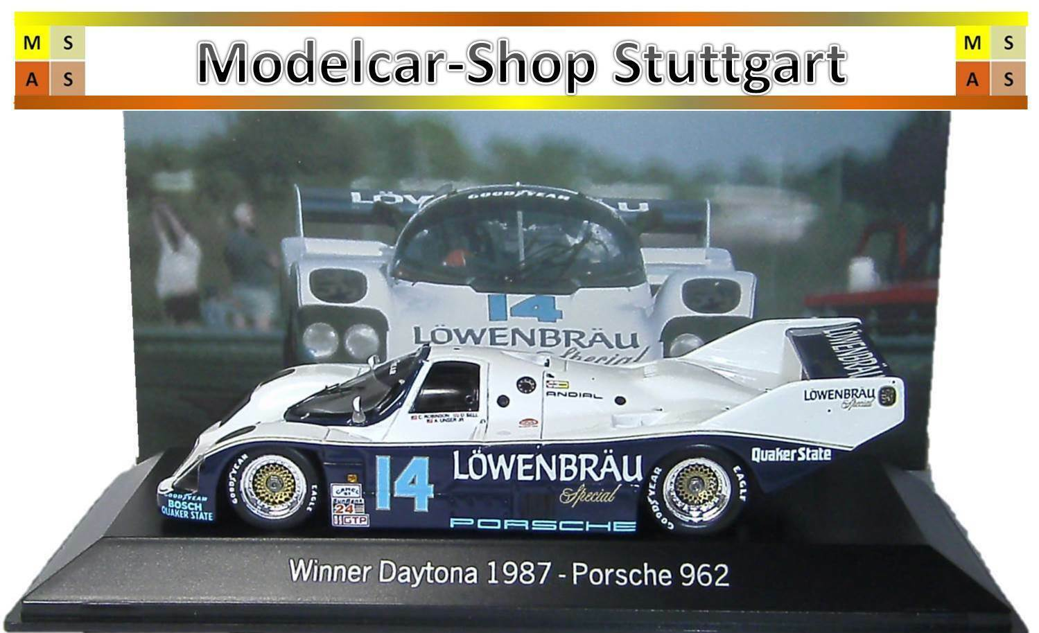 Porsche 962 Winner Daytona 1987-Spark 1 43 - map02028714-NEW