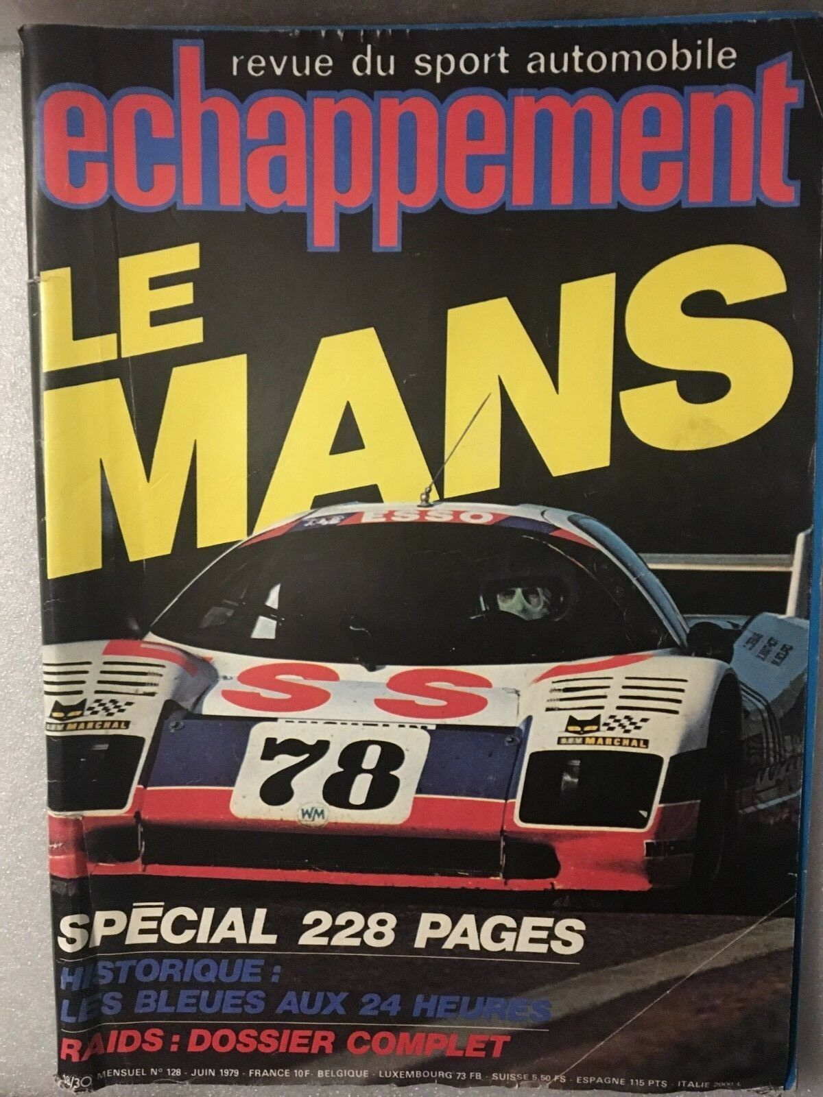Magazine Echappement LE MANS N°128 JUIN 1979.
