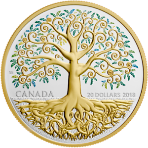 2018-Canada-Tree-of-Life-20-Fine-Silver-Coin-Beautiful