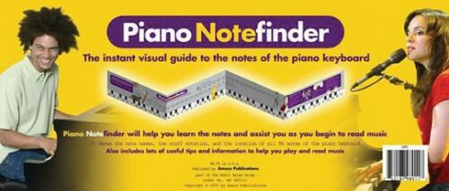 Piano Notefinder Visual Keyboard Guide Book NEW 014025505