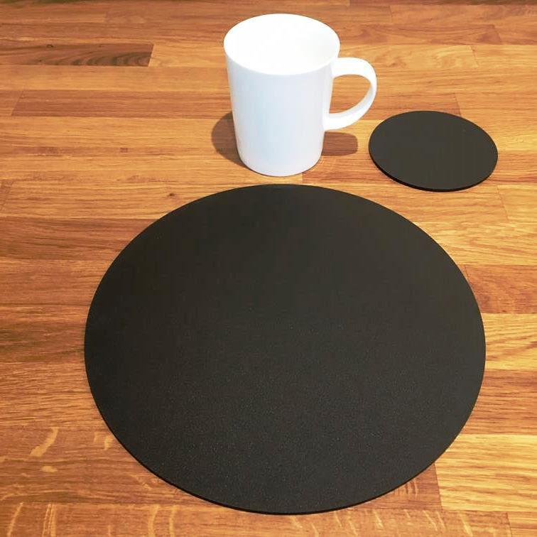 Rund Tischset und Untersetzer Set Set Set - mokka-braun       Gutes Design  ed03f0