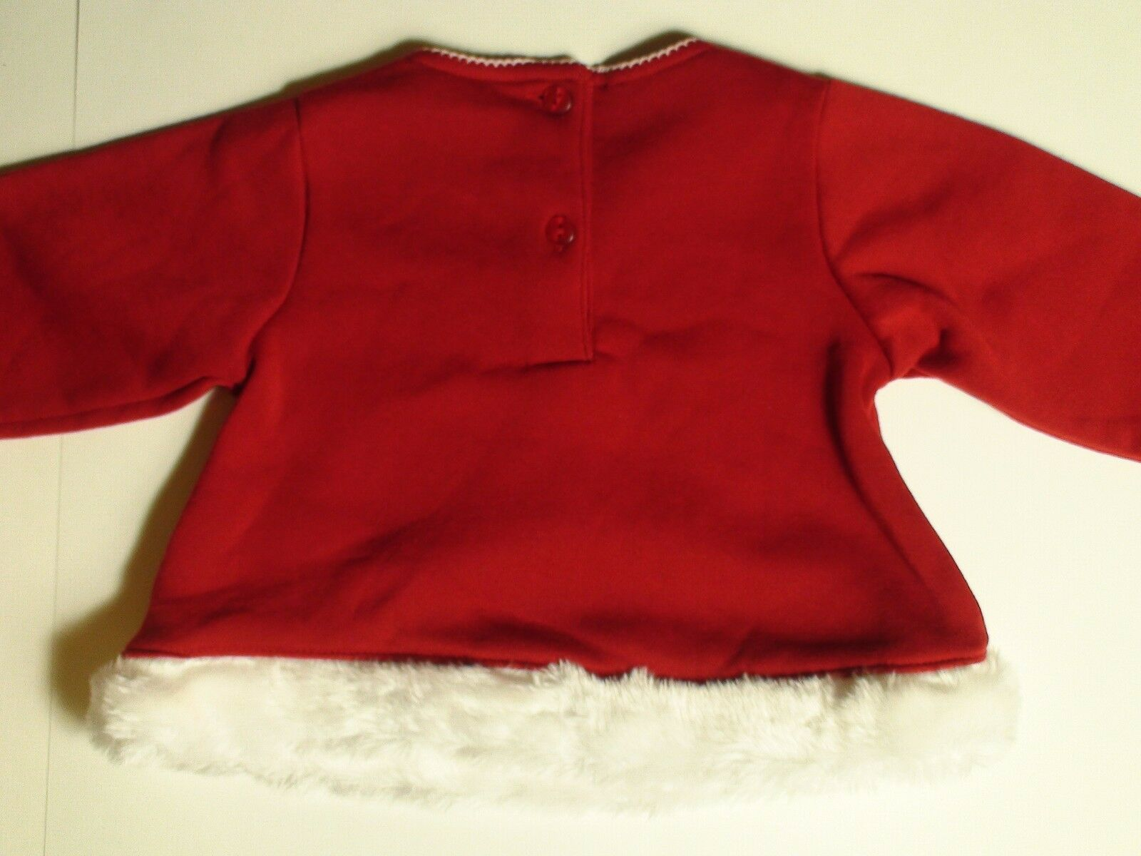 Scooters Baby Boys Girls My 1st Christmas 2pc Outfit Faux Fur Trim Teddy Bear