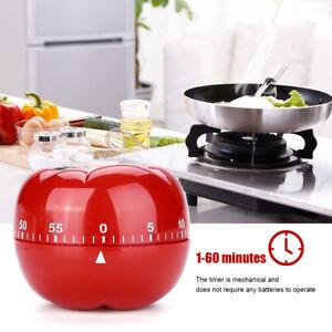 Timer-Da-Cucina-Meccanico-A-Forma-Di-Pomodoro-Cottura-Alimenti-60-Minuti-dfh