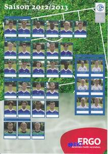 MAXI-Autogrammkarte-Schalke-04-Alle-Spieler-Saison-2012-2013-30x21-cm
