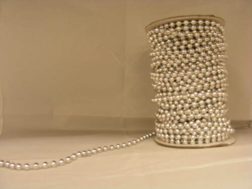 Pearls on String Silver 6mm 10 metres