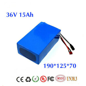 36V 8//10//15//20Ah 18650 Cells Li-oin Battery Pack for Electric Bike with PVC Case