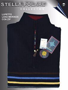 Lupetto L Xxl M Con Misure Blu Colore Stella Zip Polare Xl Lana Merinos Maglia EwPfA