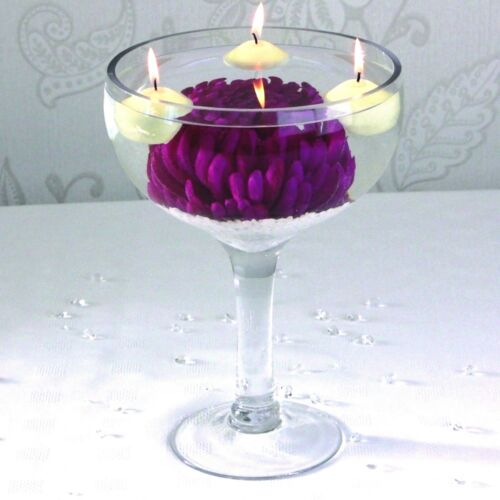 Cocktail Vase round style 28cm high glass event table reception wedding display