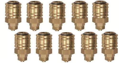 10 x Druckluftkupplung Schnellkupplung Schlauchanschluß und Überwurfmutter NW7