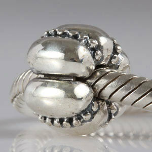 regalo Andante-stones masivamente 925 Sterling plata bead clip topes #1634