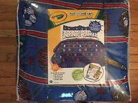 Crayola Sports 8pc Bedding Twin Comforter Set Baseball Football Cotton Blend