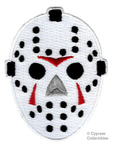 Image Is Loading EMBROIDERED HOCKEY MASK PATCH IRON ON FRIDAY THE