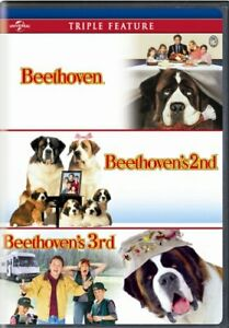 BEETHOVEN + BEETHOVEN'S 2ND + BEETHOVEN'S 3RD New Sealed DVD Triple Feature