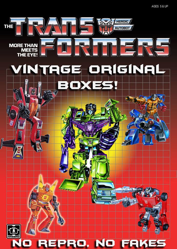 Les transformateurs G1 génération un Original Vintage Boîtes ronger DEVASTATOR N plus